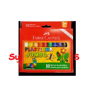 PLASTILINA X 10 JUMBO FABER-CASTELL (12)(72)