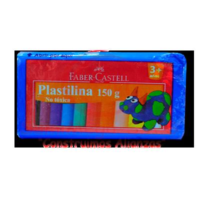 PLASTILINA X 150 GR AZUL OSCURO FABERCASTELL (6) (72)