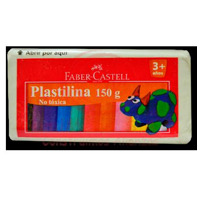 PLASTILINA X 150 GR BLANCA FABERCASTELL(6)(72)
