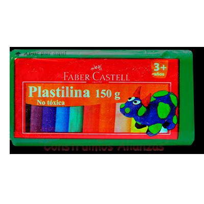 PLASTILINA X 150 GR VERDE FABERCASTELL(6)(72)