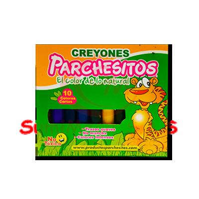 CREYOLINES X 10 CORTO DELGADOS PARCHESI(6) (144)