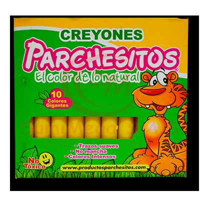 CREYOLINES X 10 GIGANTES AMARILLO PARCHESITOS (6) (120)