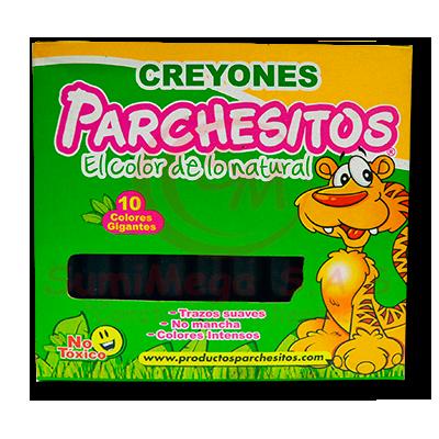 CREYOLINES X 10 GIGANTES VERDE PARCHESITOS (6)(120)