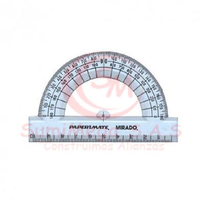 TRANSPORTADOR 180' – 10 CM PAPERMATE (24)***