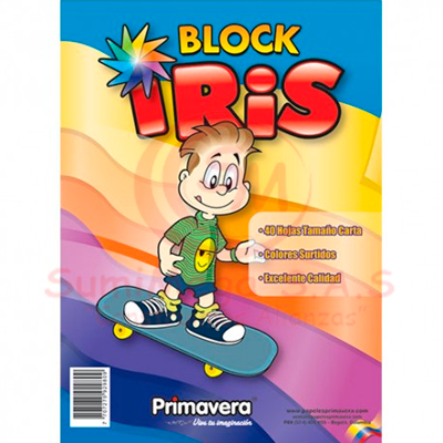 BLOCK IRIS X 35 HJ FLUORESCENTE PRIMAVERA