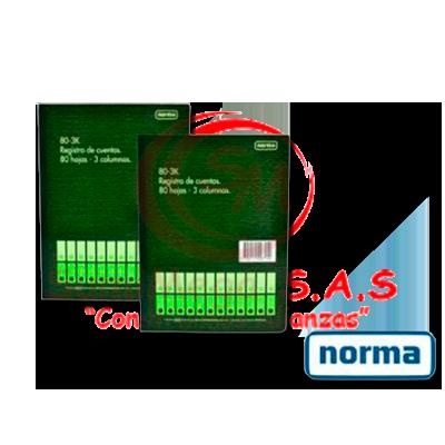 LIBRO 3 COL X 50 HJ 100 FOL 500897 NORMA (14)