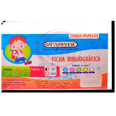 FICHA BIBLIOGRAFICA BLANCA X 50 FABRIFOLDER (250)