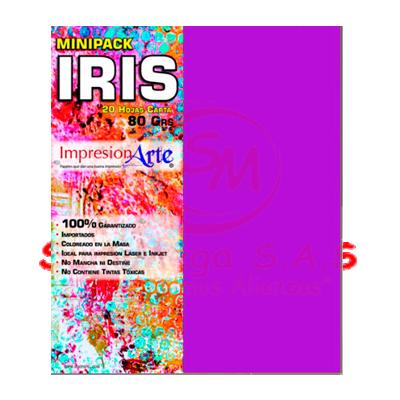 HOJAS IRIS CARTA X 20 MORADO