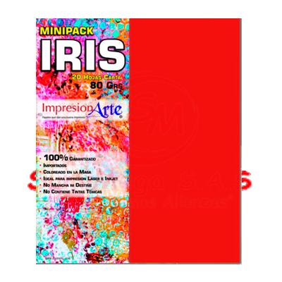 HOJAS IRIS CARTA X 20 ROJO