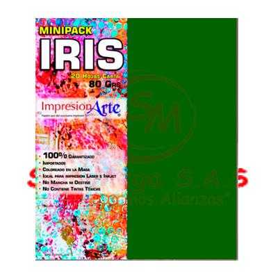 HOJAS IRIS CARTA X 20 VERDE