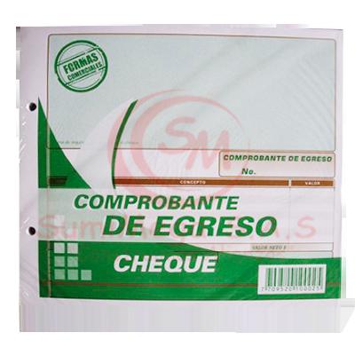 COMPROBANTE EGRESO CHEQUE