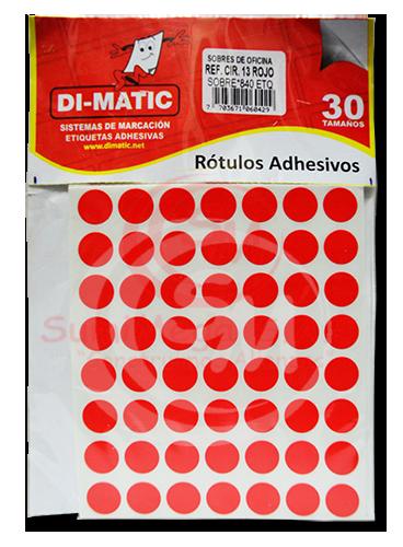 ROTULO 1.3 MM ROJO X 840