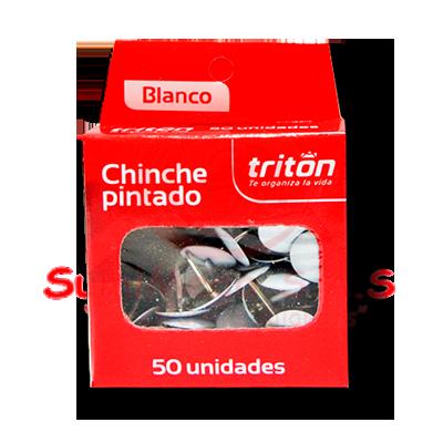 CHINCHE METALICO BLANCO X 50 TRITON (100)