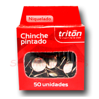 CHINCHE METALICO NIQUELADO X 50 TRITON