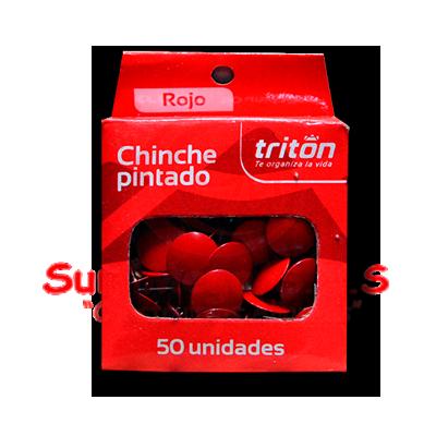 CHINCHE METALICO ROJO  X 50 TRITON (100)