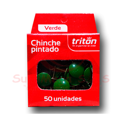 CHINCHE METALICO VERDE X 50 TRITON (100)
