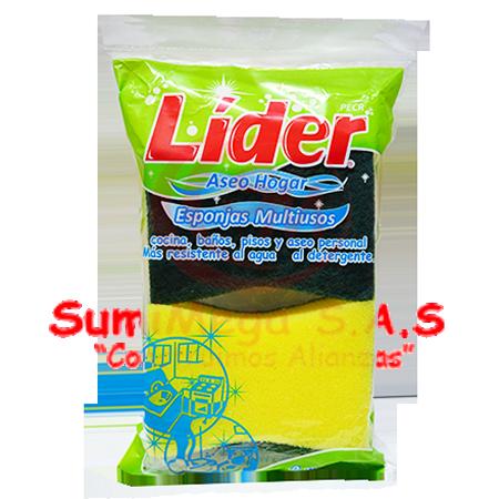 ESPONJA DOBLE USO X 2 LIDER (50)