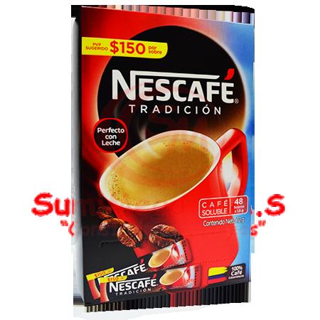 CAFE INSTANTANEO X 48 SOBRES NESCAFE (24)
