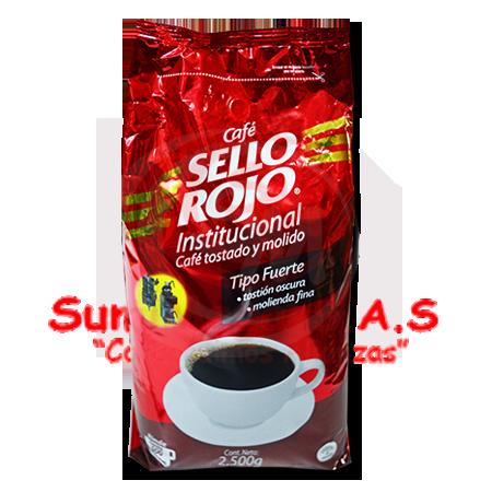 CAFE X 2500GR FUERTE SELLO ROJO INSTITUCIONAL (6)