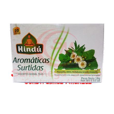 AROMATICA SURTIDA X 20 SOBRES HINDU (18)(144)