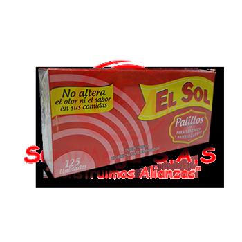 PALILLOS GRANDES X 125 (SAND Y HAMB) EL SOL