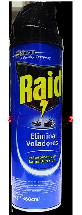INSECTICIDA AZUL VOLADORES 400 ML RAID (12)