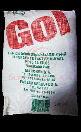 DETERG EN POLVO X 20 KG GOL/RIOKA