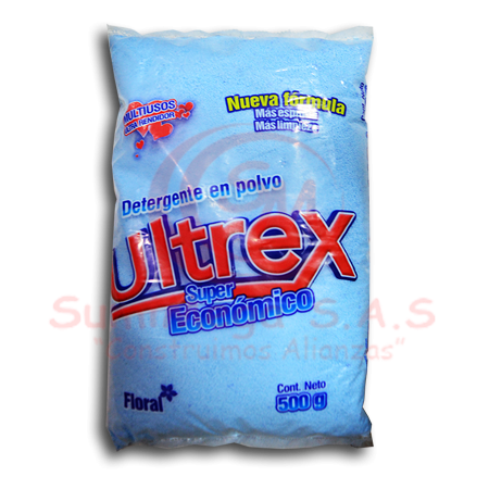 DETERG EN POLVO X 500 GR FLORAL 6% ULTREX (40)