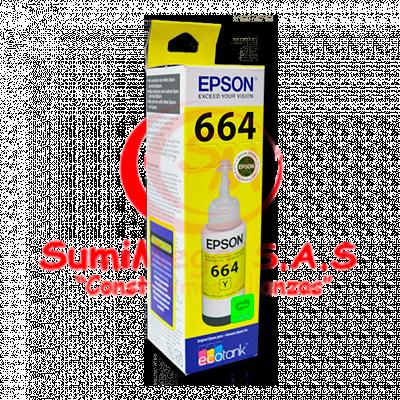 TINTA EPSON T664420 AMARILLO L200-210-350-355-555
